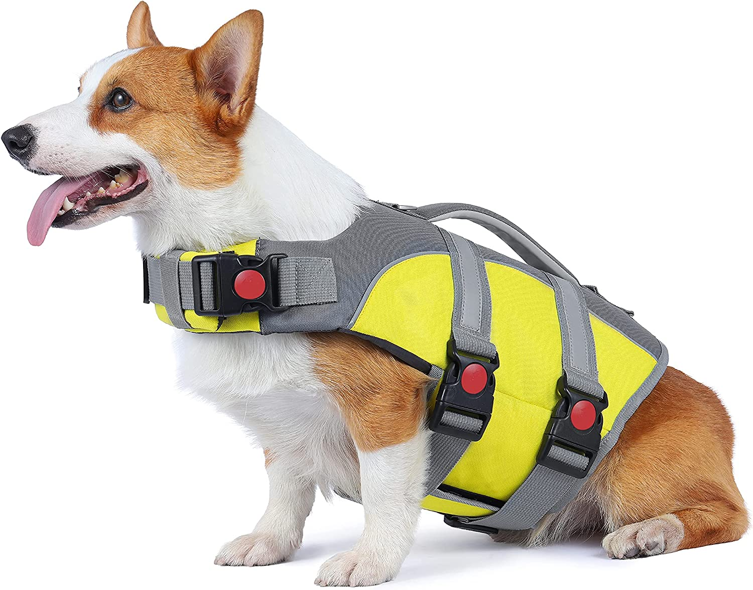 Outlet ☆ Free Shipping Dog Life Jacket Reflective At the price w Swimming and Adjustable