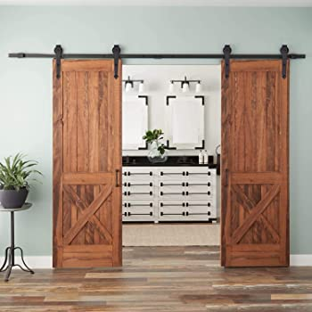 Schiebetürbeschlag für Holzschiebetürsystem Holz Rehlingbeschlag Edelstahl matt