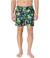 Floral Elastic Stretch Swim Shorts