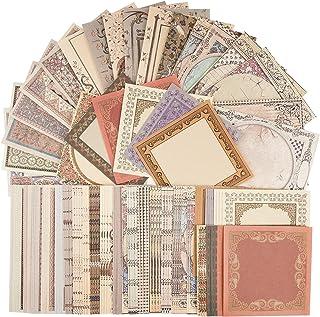 120pcs Autocollants de Scrapbooking Rétro Gommettes étiquettes, Stickers Vintage Scrapbooking DIY Album Photo pour Journal...