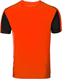 ZITY Athlete Shirts for Men, Workout Short Sleeve Running T Shirt Orange XL