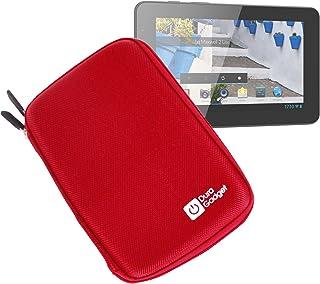 DURAGADGET Funda Roja Rígida con Cremallera para Mundo Reader Tablet BQ Maxwell 2 Plus/Maxwell Plus/Maxwell 2 De 7 Pulgadas