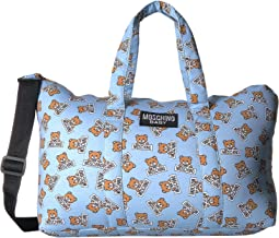 Teddy Bear Logo Print Diaper Bag w/ Changing Mat