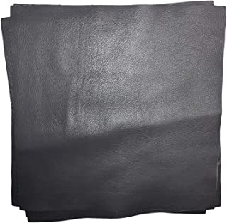 12'' x 12'' Grey Cowhide: Soft Natural Pebble Grain Leather 2.5-3 oz. Perfect for Handbags, Shoes, Garments, and Leather Crafts!