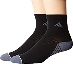 adidas Superlite Speed Mesh 2-Pack Quarter Socks
