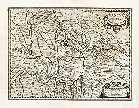 Antique Map-ITALY-MANTUA-Hondius-Janssonius-1636