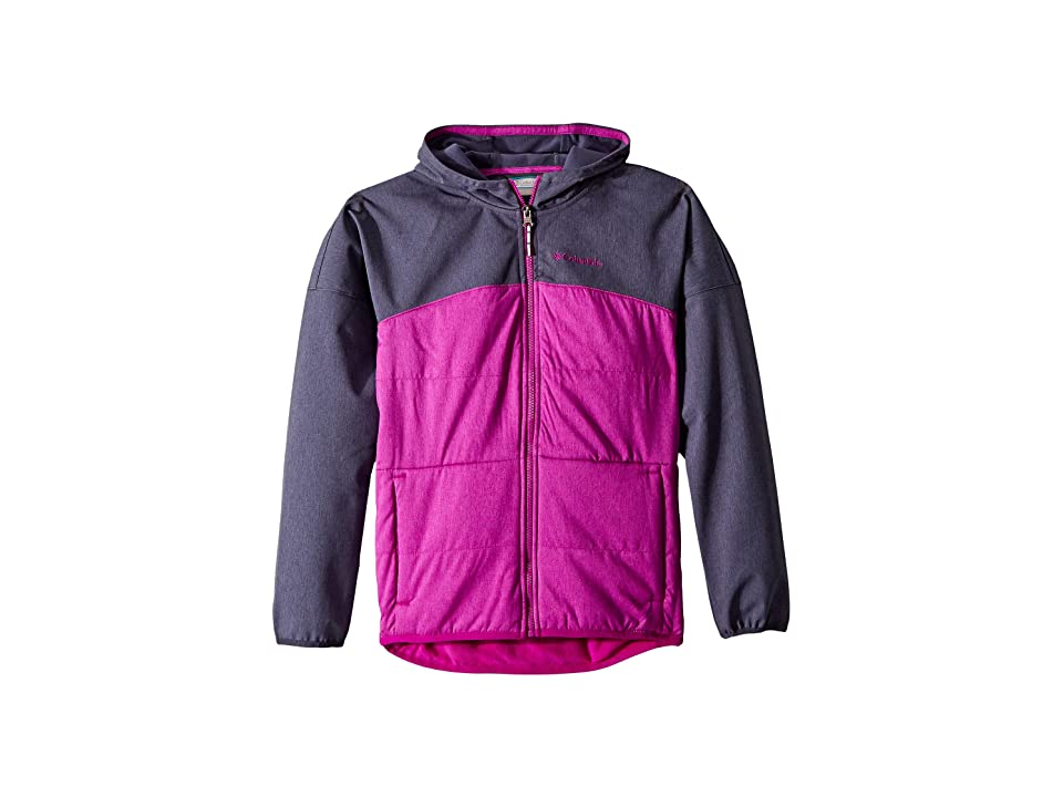 Columbia Kids Take A Hiketm Softshell (Little Kids/Big Kids) (Nocturnal Heather/Bright Plum) Girl