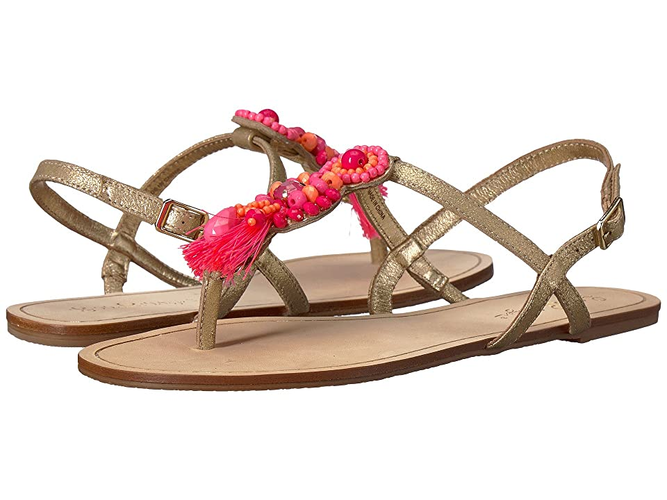 Lilly Pulitzer Interchangeable Island Sandal (Gold Metallic) Women