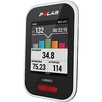Polar V650, Ordinateur de Cyclisme, GPS, Cardiofréquencemètre, Écran Tactile