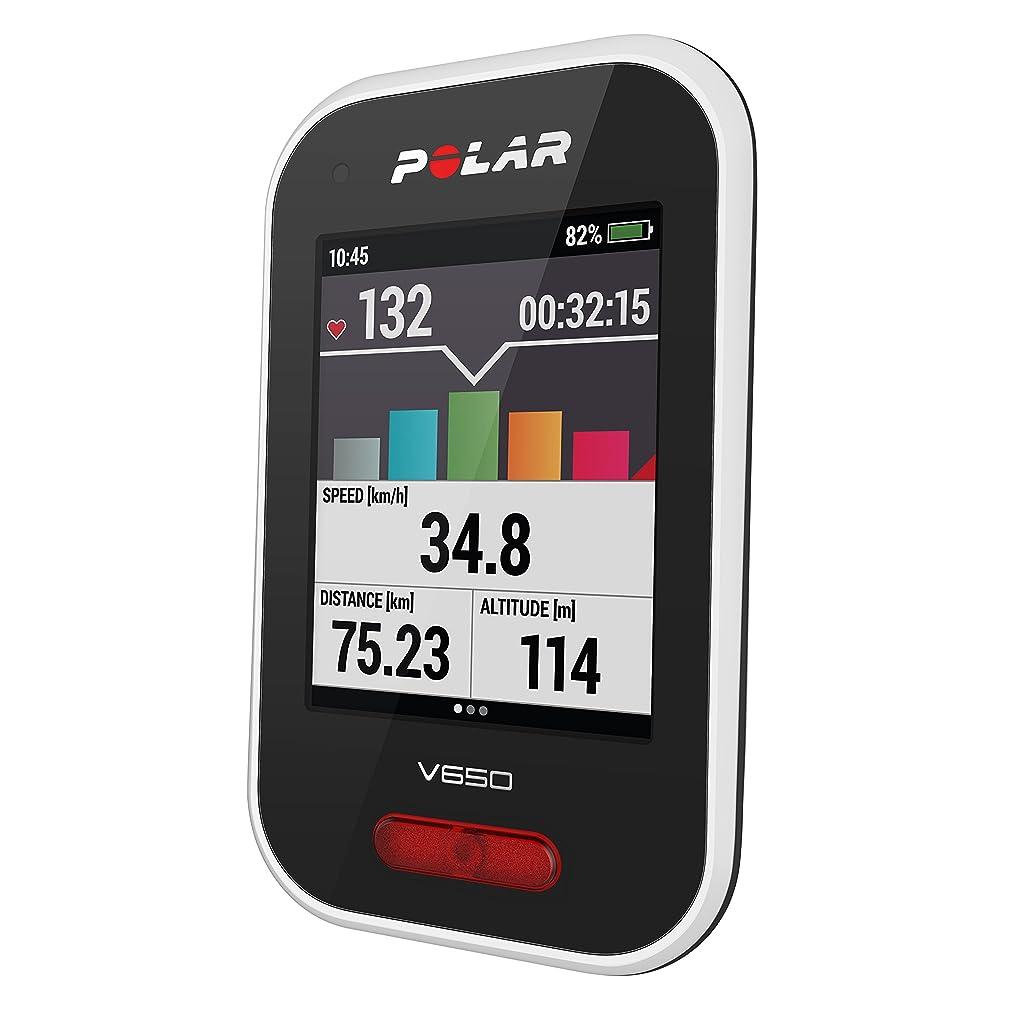 ダッシュ怒って結論POLAR(ポラール) 【日本正規品/日本語対応】GPSサイクルコンピュータ Polar V650 N 90069624 ホワイト