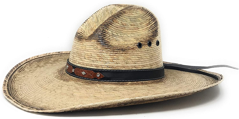 Texas West Men's & Women's Western Style Cowboy/Cowgirl Straw Hat