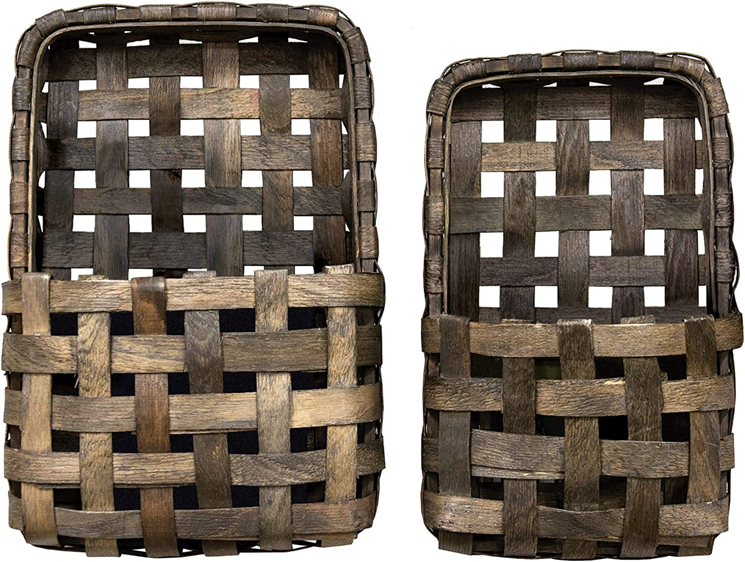 CWI Ultra-Cheap Deals Gifts Aged Tobacco Wall Set Pocket security Baskets Multi 2