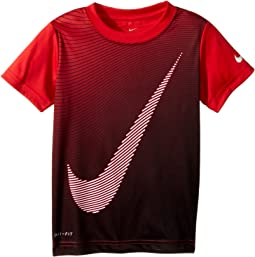 Optical Swoosh Dri-FIT Short Sleeve Tee (Little Kids)