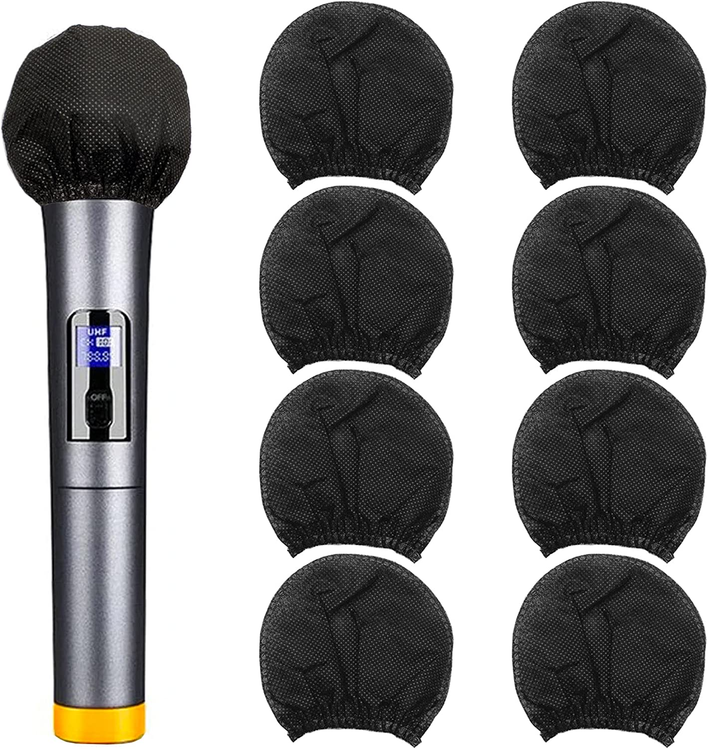 200pcs Disposable Year-end annual account Microphone Cover Band Max 54% OFF Elastic Handh Non-Woven