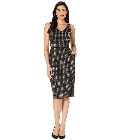 LAUREN Ralph Lauren Embeth w/ Trim Dress (Cream/Black) Women