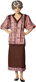Golden Granny Strong Costume Dress Set with Wig for The Granny Girls Women Size L-XL