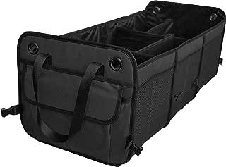 Cutequeen Black Trunk Organizer Back Seat Protector Storage Organizer Multi Compartments..