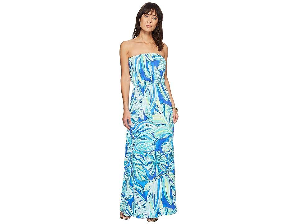 Lilly Pulitzer Marlisa Maxi Dress (Beckon Blue Palm Passage) Women