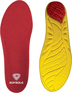 Sof Sole Insoles Men's High Arch Performance Full-Length Foam Shoe Insert