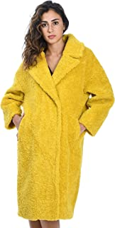 BETTA CORRADI Luxury Fashion Womens B125SHER023 Yellow Coat | Fall Winter 19
