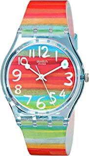 Women's GS124 Quartz Rainbow Dial Plastic Watch