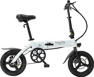 HoldOn Q1J 電動アシスト自転車 折りたたみ 型式認定 14インチ パールホワイト