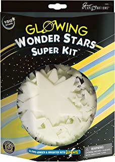 Great Explorations Wonder Stars Super Kit Glow In The Dark Ceiling Stars 150Piece In 4 Sizes Reusable Adhesive Putty & Con...
