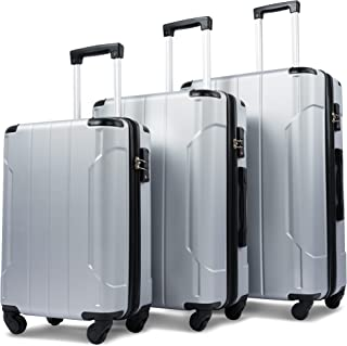 Merax 3 Piece Luggage Sets ABS Expandable Spinner Suitcase with TSA Lock 20 inch 24 inch 28 inch