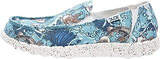 Dude Shoes Hommes en Toile d'impression Farty Bleu Koi UK6 / EU40