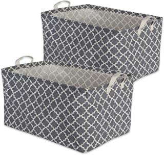 DII Cotton/Polyester Cube Laundry Basket, Perfect In Your Bedroom, Nursery, Dorm, Closet, 10.5 x 17.5 x 10