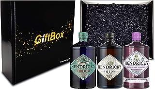 Hendricks Gin Geschenkset - Hendricks Gin 0,7L 44% Vol  Hendricks Midsummer Gin 0,7L 43,4% Vol  Hendricks Orbium Gin 0,7L 43,4% Vol  Giftbox - Enthält Sulfite