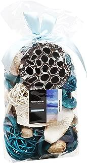 Qingbei Rina Gift,Turquoise Ocean Scent Fall Potpourri Dried Flower Bag,Including Lotus pod,Flower,Petal,Pinone,Rattan Ball,Sepa Takraw Perfume Sachet in OPP Bags Home Decoration Volume of 60 Oz