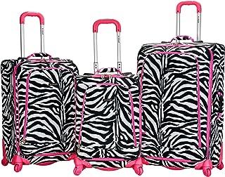 Luggage Fusion 3 Piece Luggage Set, Pink Zebra, Medium