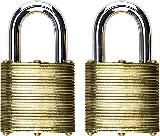 Commando Lock 3002 Marine Series Military Grade Brass Lock (40 Millimeter) (2 Pack)