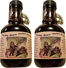 Wild Montana Huckleberry Wine Syrup - 2-12 oz jars of our Our Infused Hootch - Hand Harvested for Bounty Foods - Breakfast Pancakes - Waffles - Ice Cream Topping - Fillings (HHS M 2-9)