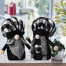 2 Pcs Buffalo Plaid Gnomes Plush,Summer Gnomes Farmhouse Gnomes,Farmhouse Christmas Ornament Home Table Decor Holiday Pres...