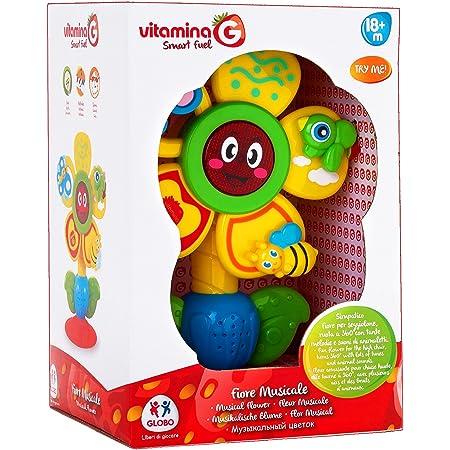 Globo Vitamina G Fiore Musicale con Ventosa, 05187