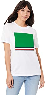 TOMMY HILFIGER Women's Organic Cotton Retro T-Shirt, Classic