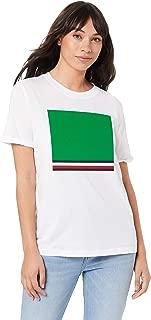 TOMMY HILFIGER Women's Organic Cotton Retro T-Shirt, Classic