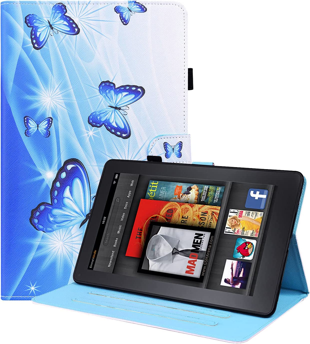 Blllue Case for Kindle Max Overseas parallel import regular item 78% OFF Paperwhite 1 2 Slim 4 Stand PU Leather 3