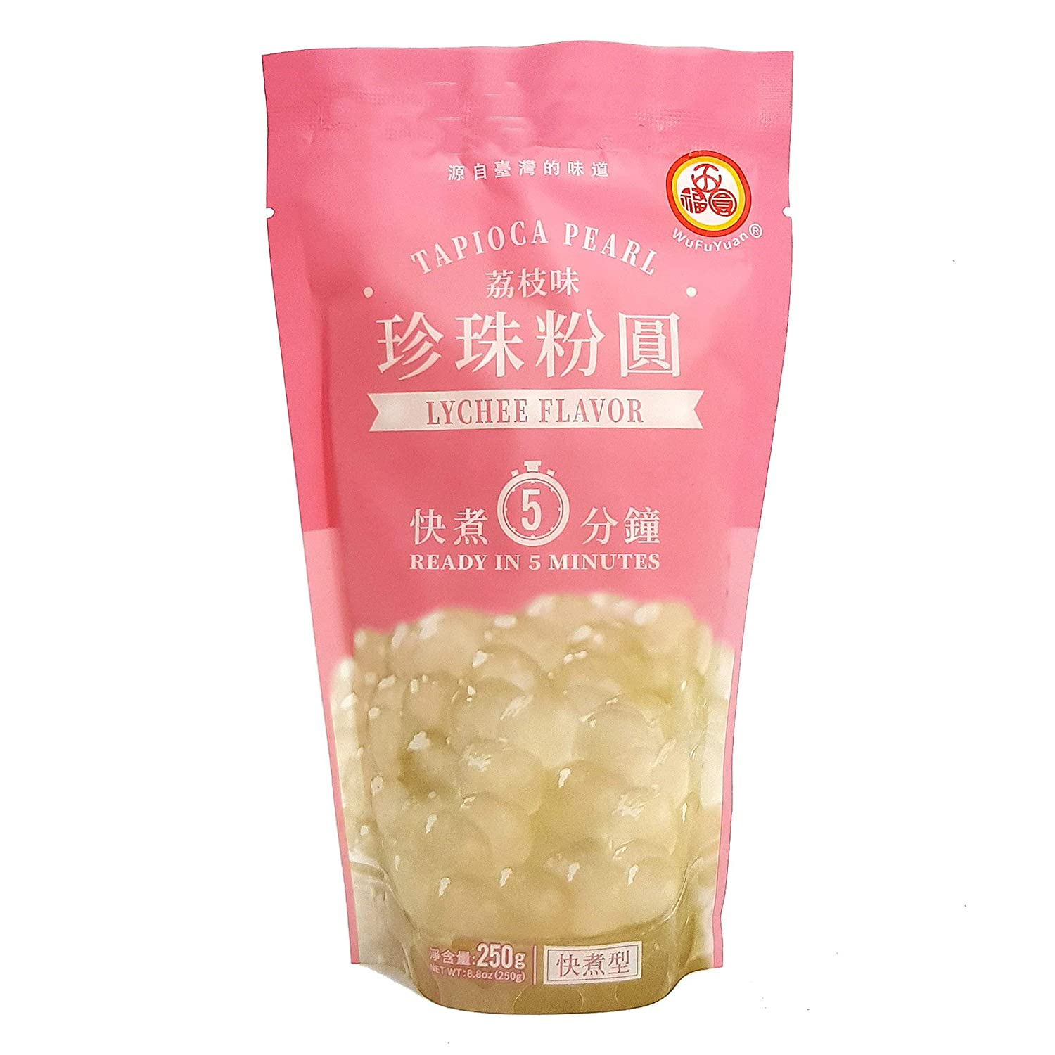 Max price 56% OFF Wufuyuan Tapioca Pearl Lychee 250g Flavour
