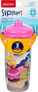 Playtex Sipsters Stage 3 Spill-Proof, Leak-Proof, Break-Proof Insulated Spout Sippy Cups - 9 Ounce - 1 Count (Color/Theme ...