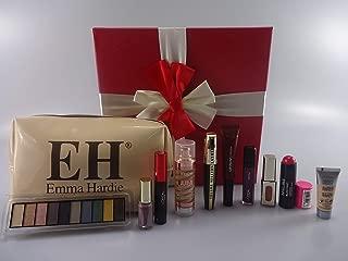 L'Oreal - Cesta de regalo para maquillaje con diseño de bloque de belleza, 10 unidades en caja de regalo + bolsa de maquillaje + anillo de cristal gratis en caja de regalo + regalo gratis