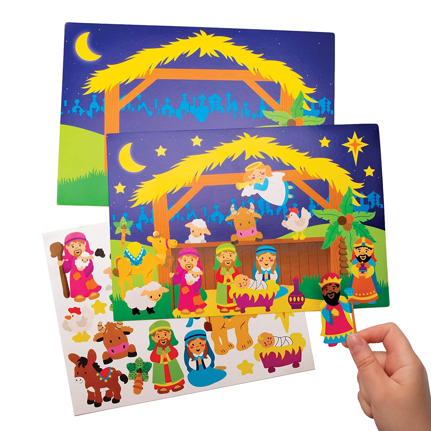 Baker Arlington Mall Ross AT142 Discount is also underway Nativity Sticker Scene 4 Pack - Kits of Perfec