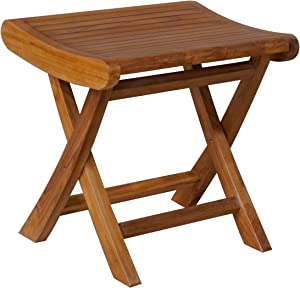 Teak Italy Outdoor Patio Footstool/Side Table, Made from Solid A-Grade Teak Wood