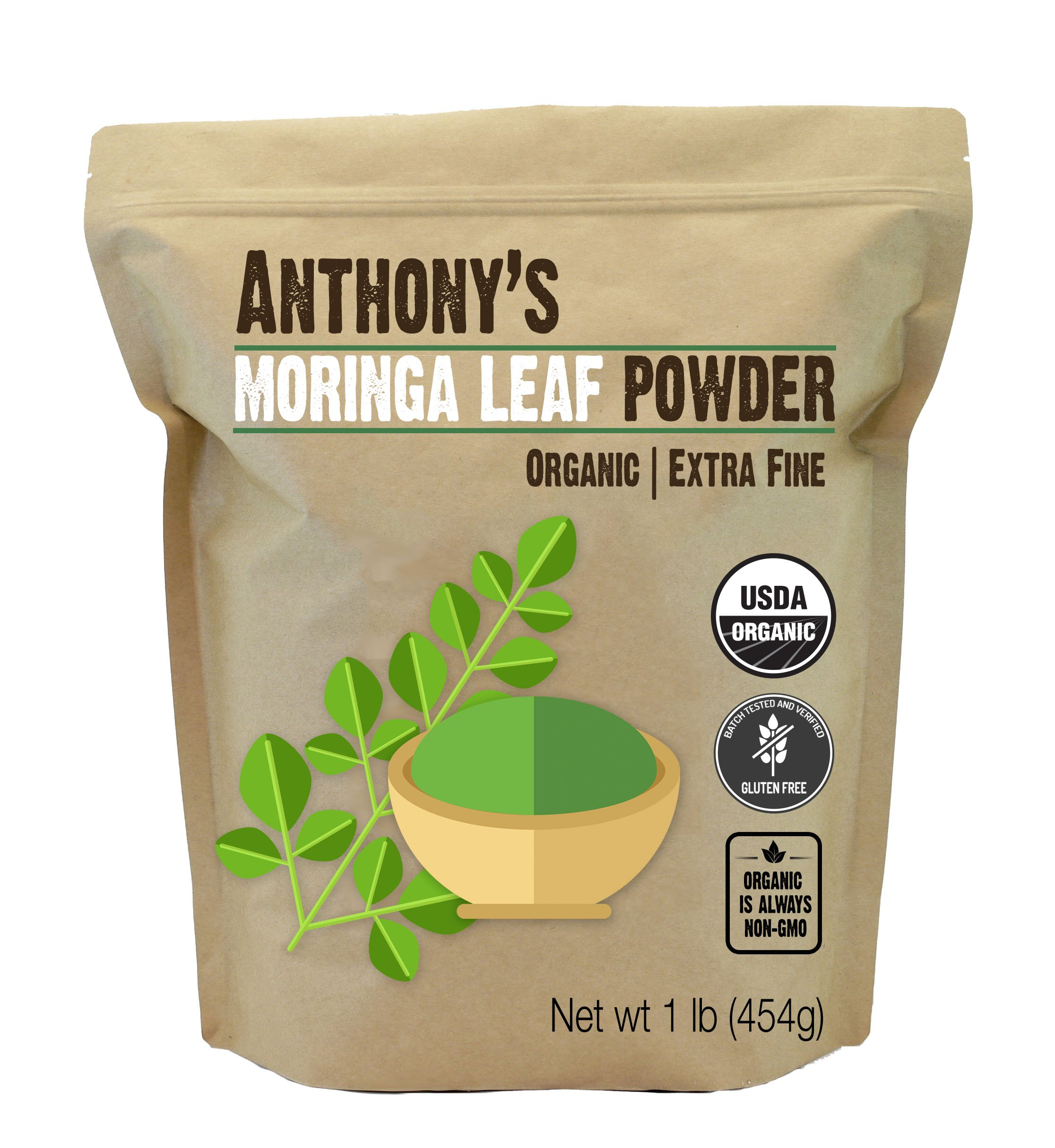 Anthonys Organic Moringa Powder Non GMO