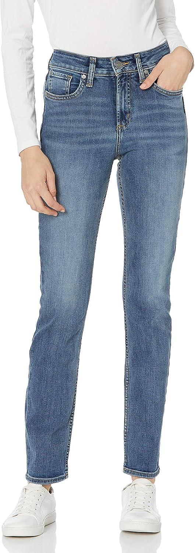 セール特価 Silver Jeans Co. Women's Avery Curvy High Rise Leg Straight 買い取り Fit