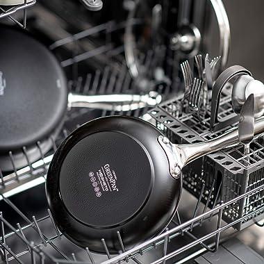 GreenPan CC000179-001 Brussels Induction Safe Healthy Ceramic Nonstick Open Wok 28cm Black