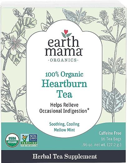 Organic Heartburn Tea for Occasional Pregnancy Heartburn, 16 Teabags/Box
