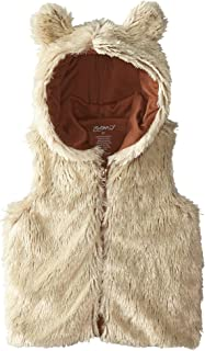 Zutano Little Girls' Toddler Shaggy Vest with Ears, Toffee, 3T